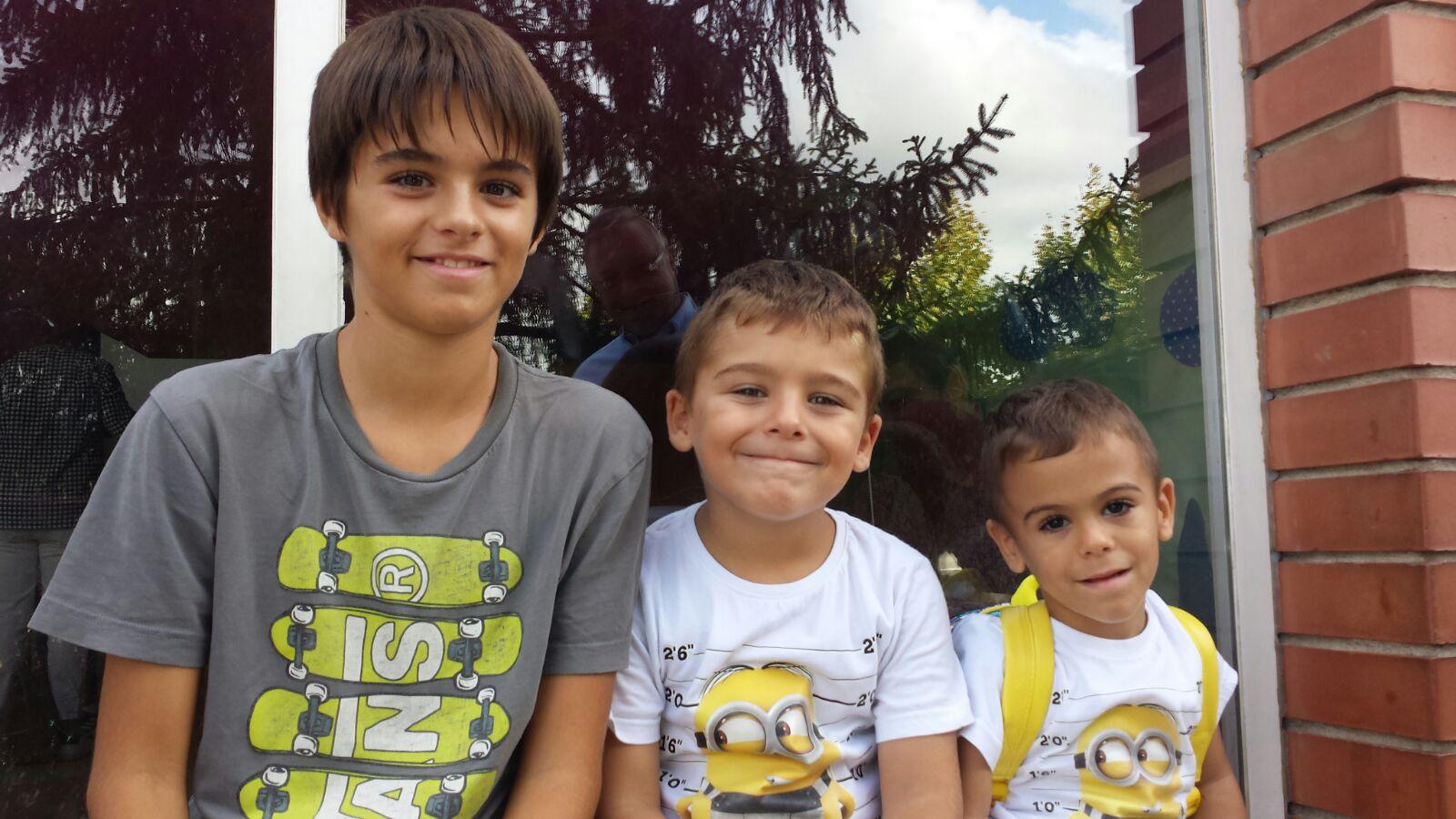 Els tres fills de Sandra Pérez