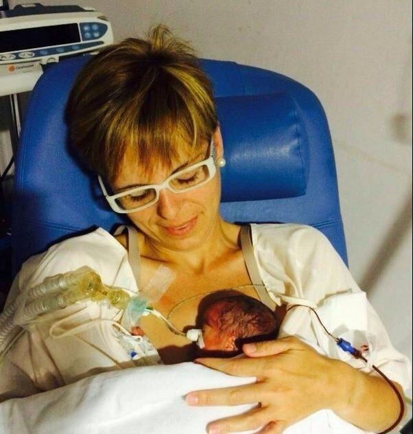 Sandra Pérez amb el seu fill Gerard