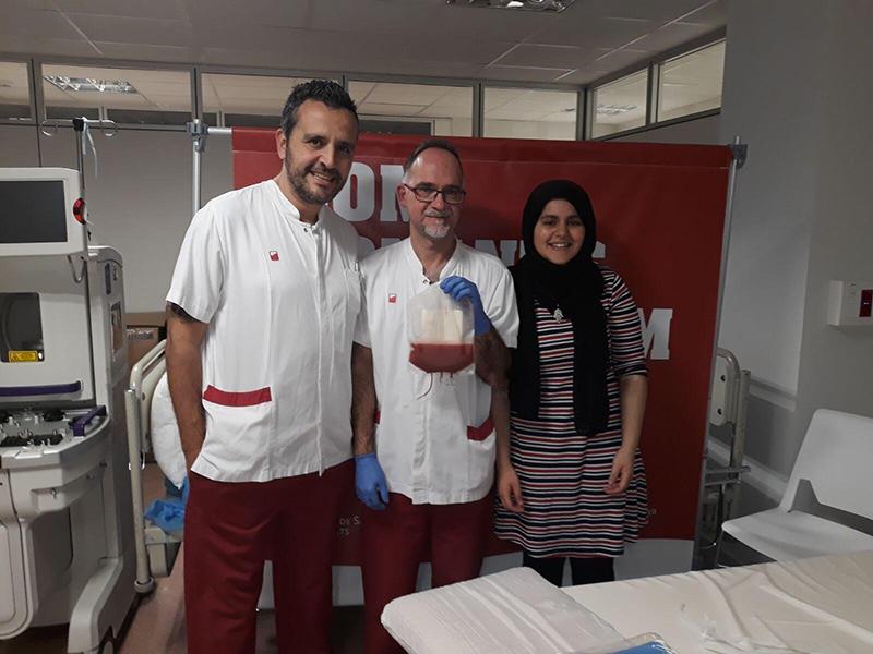 Yasmina Fatih, donant medul·la òssia