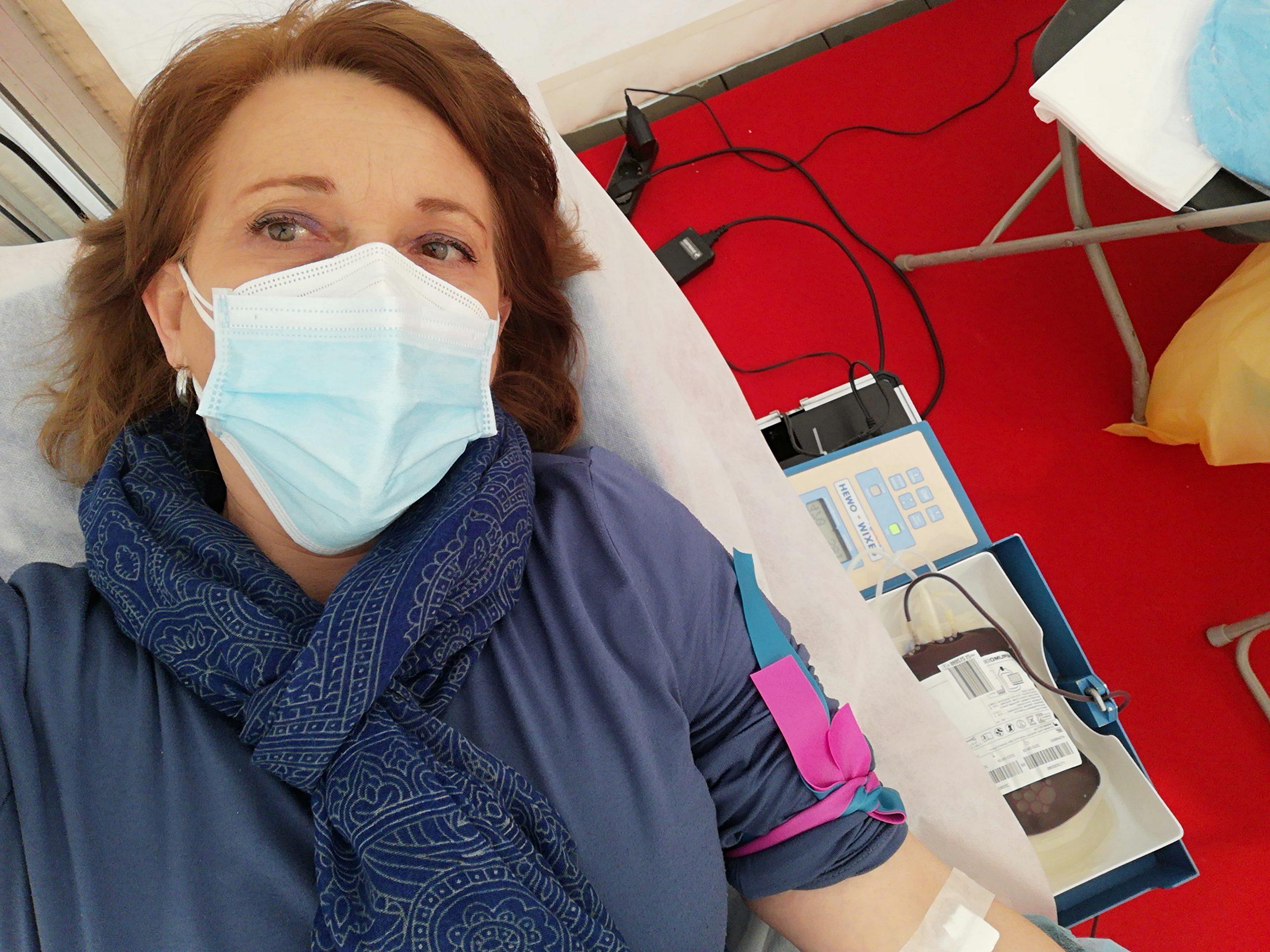 Pilar Trius donant i receptora de sang